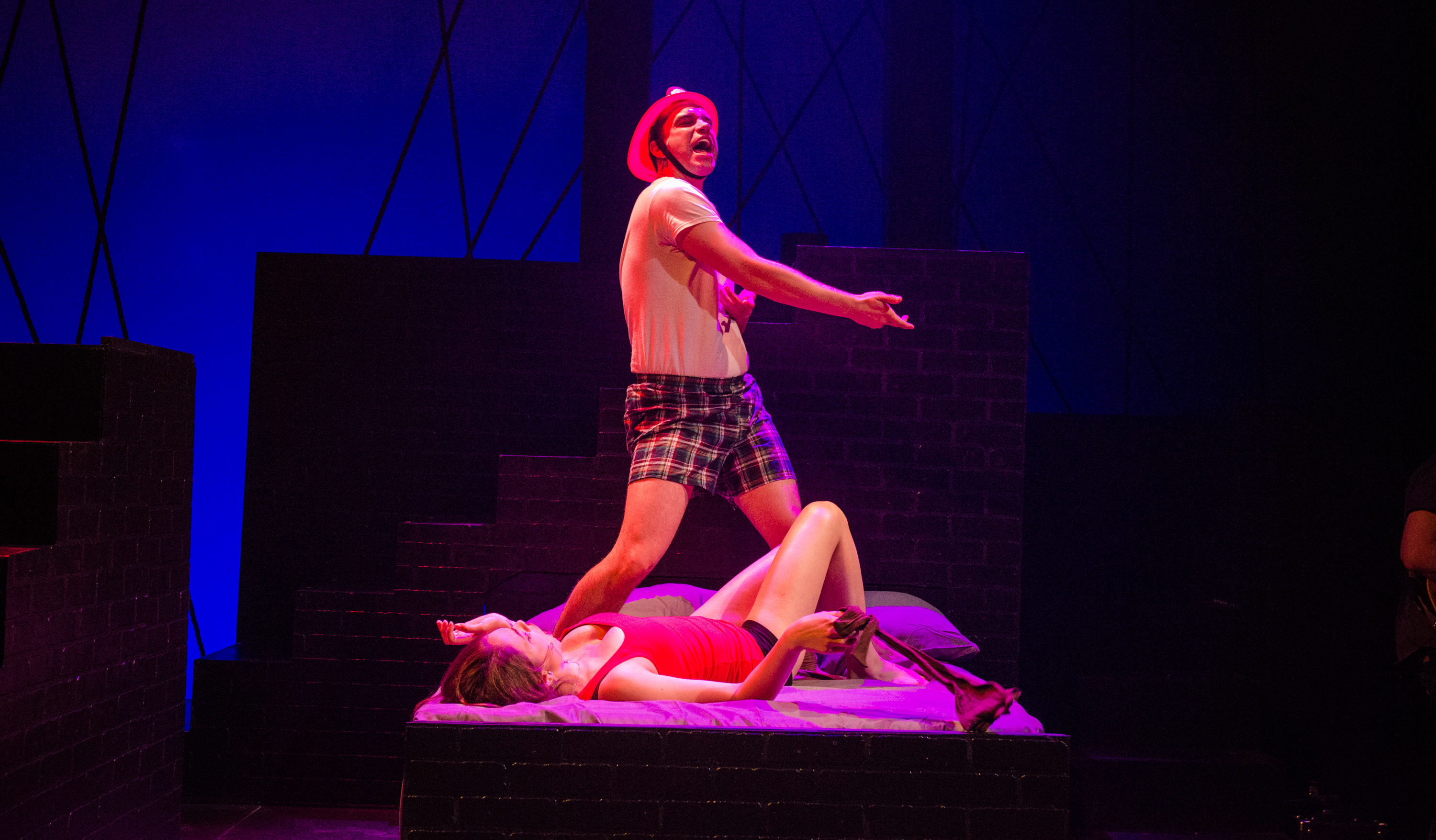 Emily Schultheis and Aaron Galligan Stierle in the musical Island Song at the Adirondack Theatre Festival