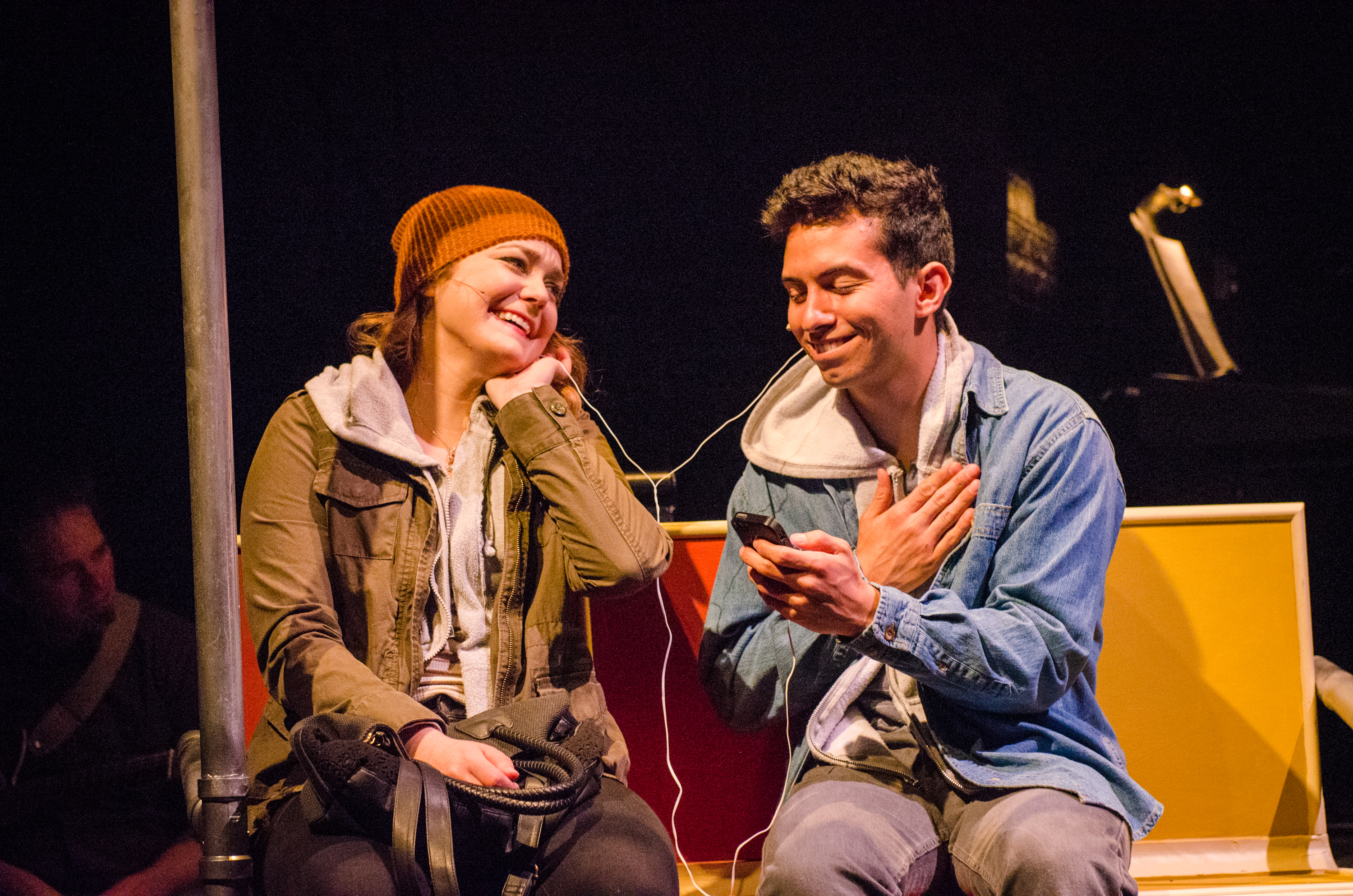 Philippe Arroyo and Madeline Trumble in the musical Island Song at the Adirondack Theatre Festival