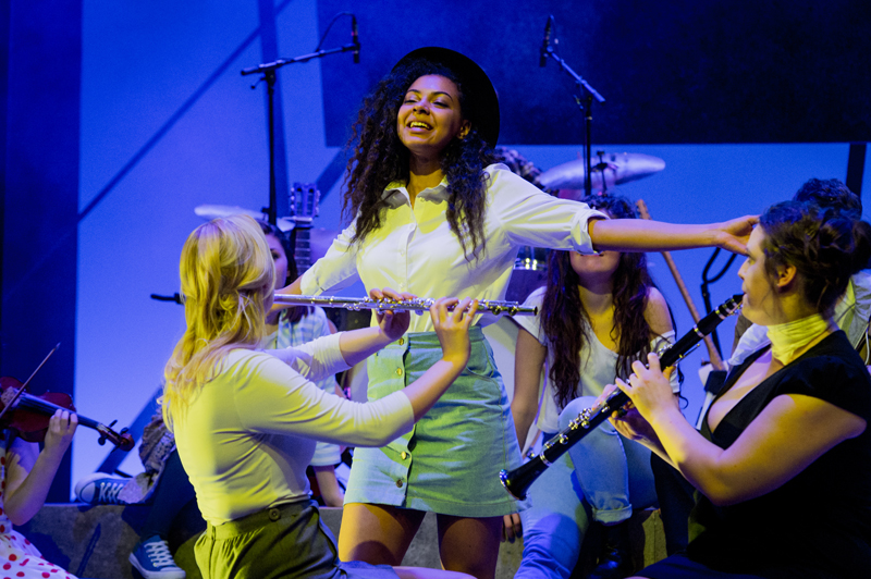 Nenda Neurer in the Rose Bruford College actor-musician production of the musical Island Song, Stratford Circus, London