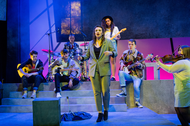 Adriana Moore in the Rose Bruford College actor-musician production of the musical Island Song, Stratford Circus, London