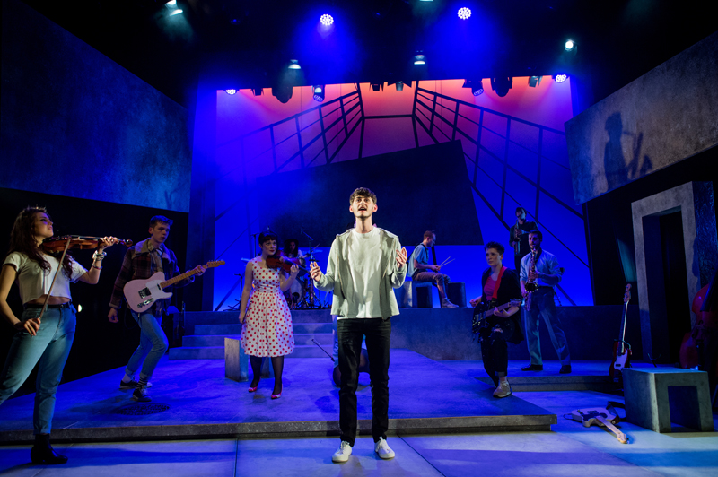 Ben Rose in the Rose Bruford College actor-musician production of the musical Island Song, Stratford Circus, London