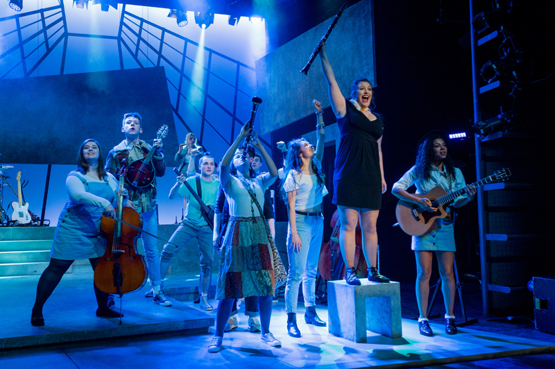 Rose Bruford College actor-musician production of the musical Island Song, Stratford Circus, London