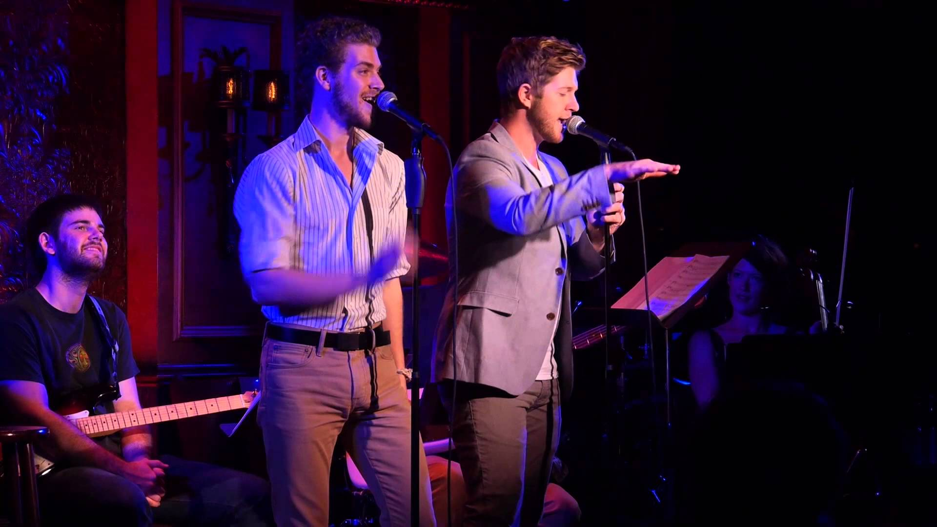 ERIC MICHAEL KROP and NAT ZEGREE singing PUT THE MAN IN ROMANCE